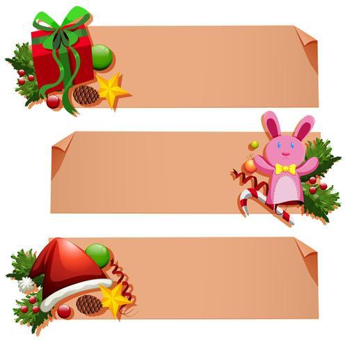 Banderollsmall med julelement