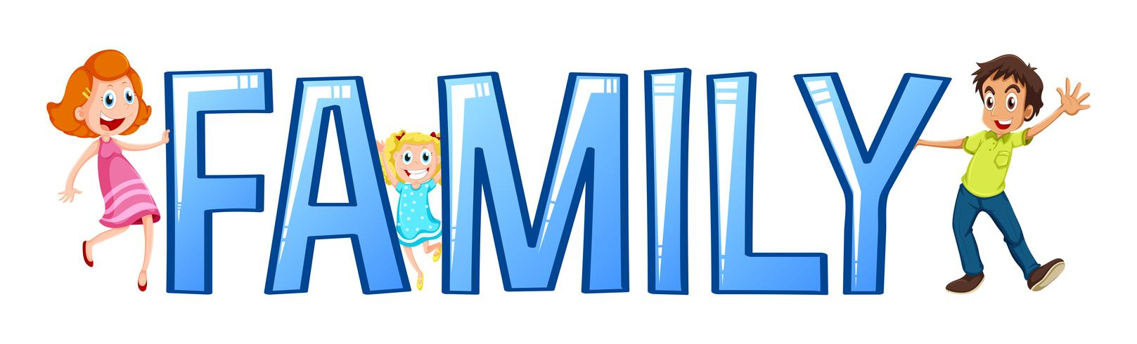 Font design for word family