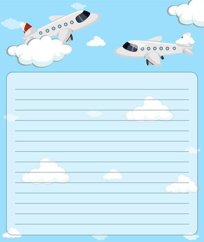 Pappersmall med två flygplan som flyger