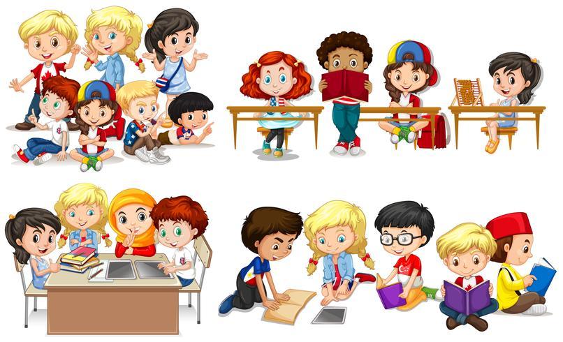 Enfants heureux en classe