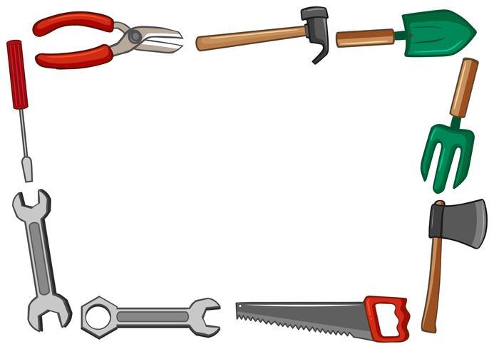 Frame ontwerp met veel tools