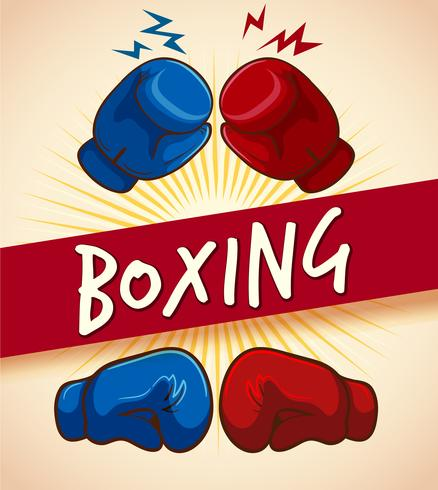 Boxhandskar och banner