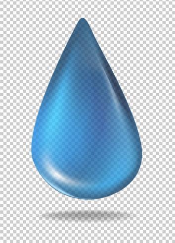 Gota de líquido azul