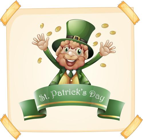 St Patrick's Day met kabouter en goud vector