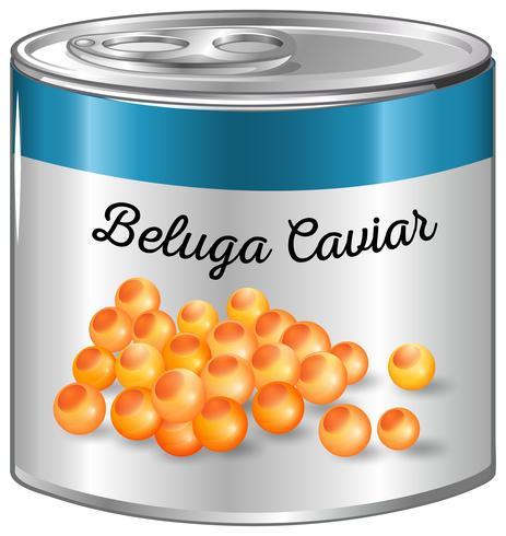 Beluga-Kaviar in Aluminiumdose