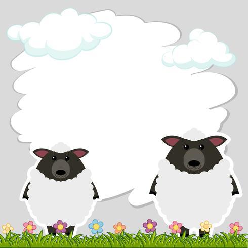Gränsmall med två får