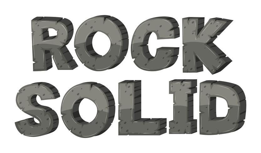 Font design för rock solid