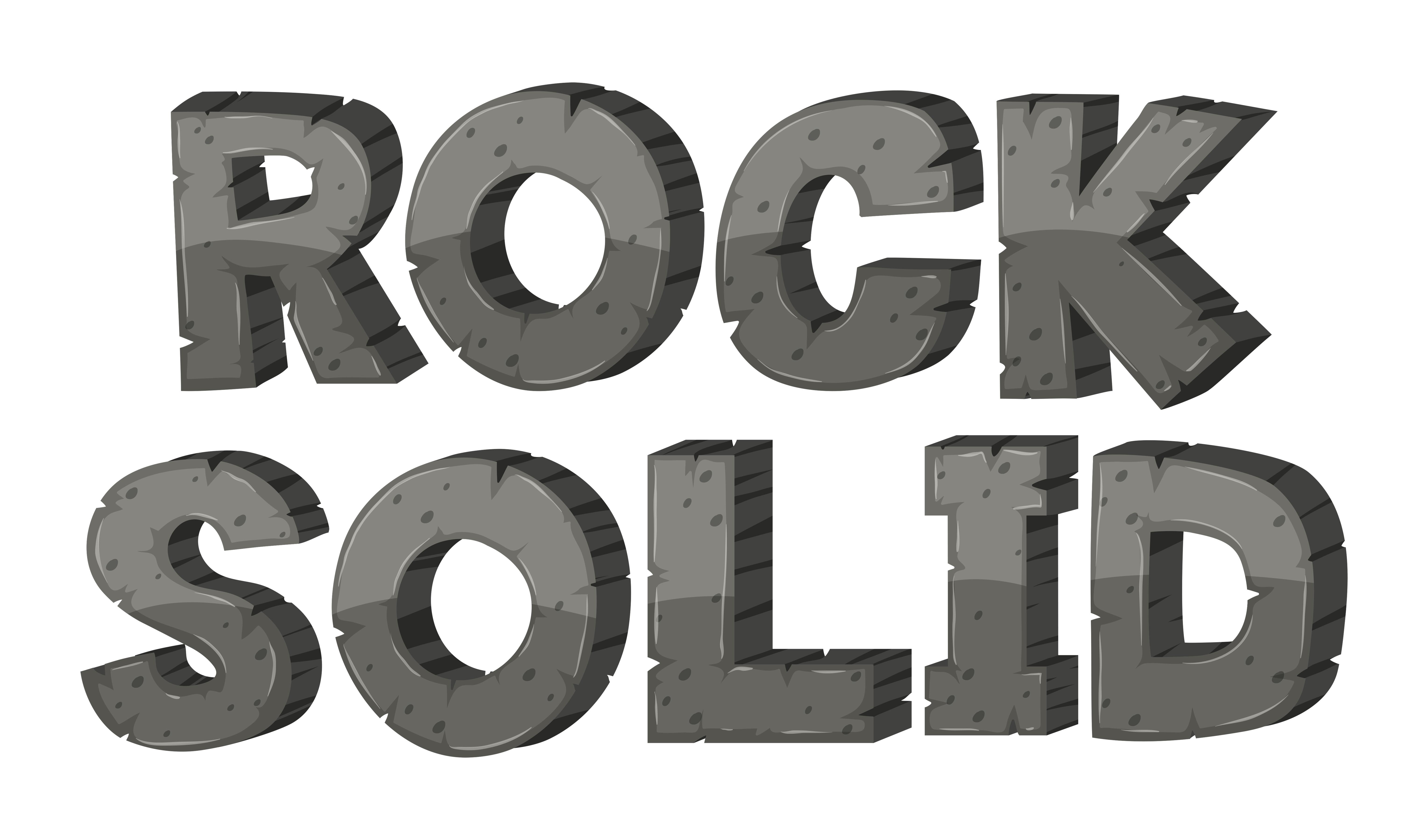 font design for rock solid