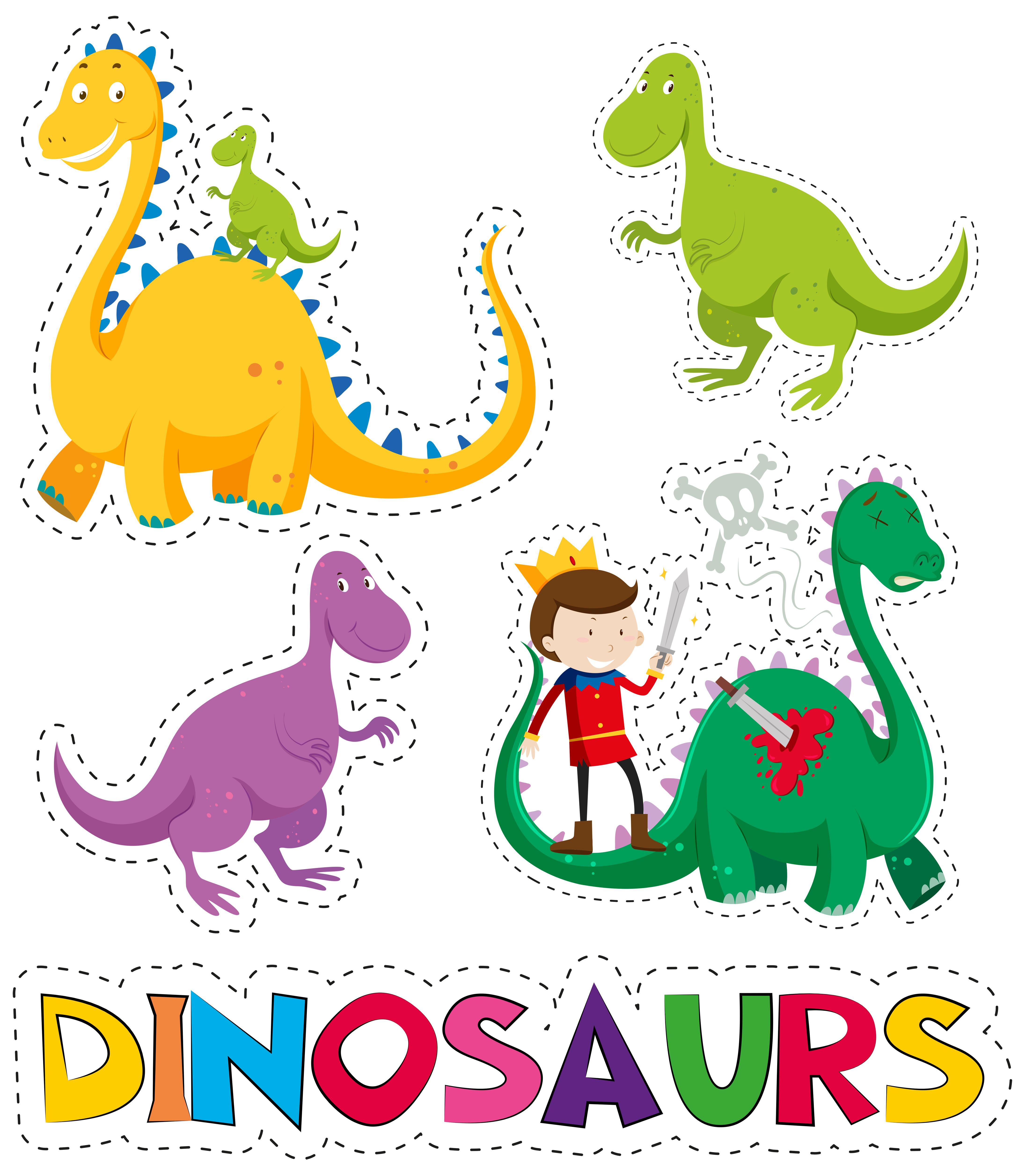恐龍插畫 免費下載   天天瘋後製