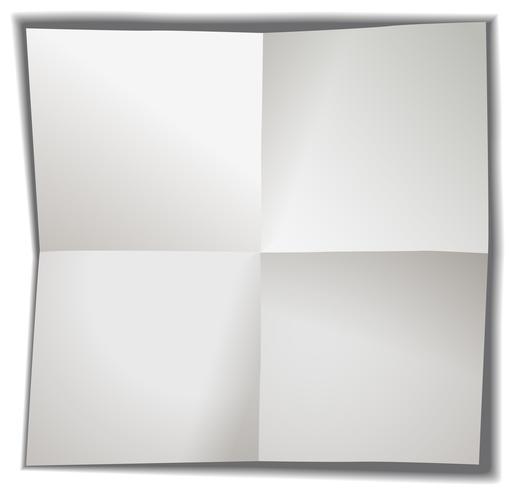Carta bianca piegata in quattro