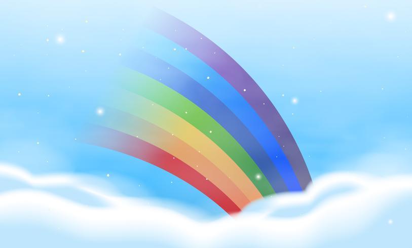 Bakgrundsdesign med färgstark regnbåge