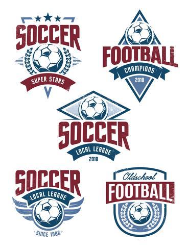 Vector emblemas de futbol