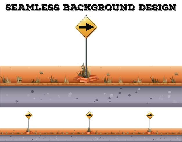 Naadloze achtergrond met verkeersbord
