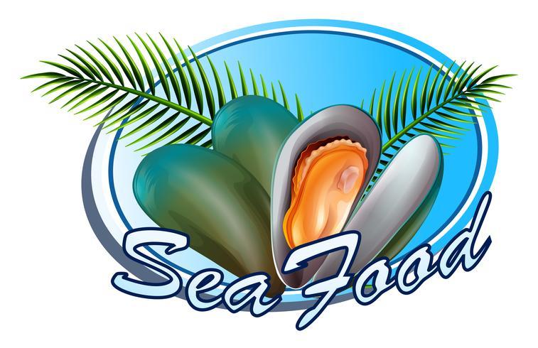 Frutti di mare vettore