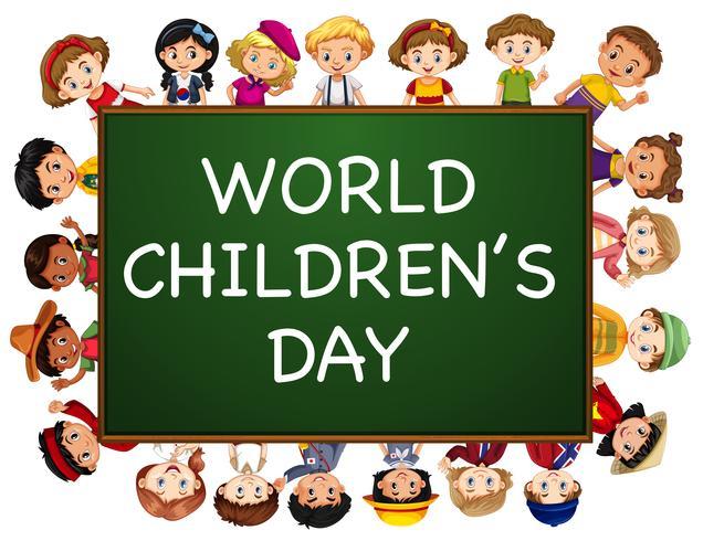 Conception de l'affiche pour la journée mondiale de l'enfance