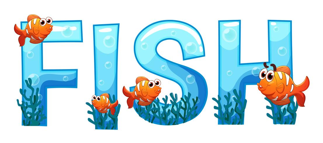Font design for word fish