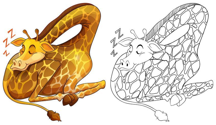 Profilo animale per dormire la giraffa