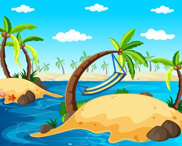 Bakgrundsscen med öar i havet