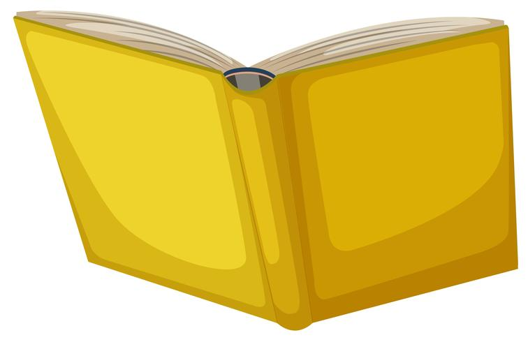 Geïsoleerd geel boek op witte achtergrond