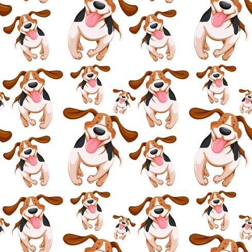 Seamless background design with little dogs