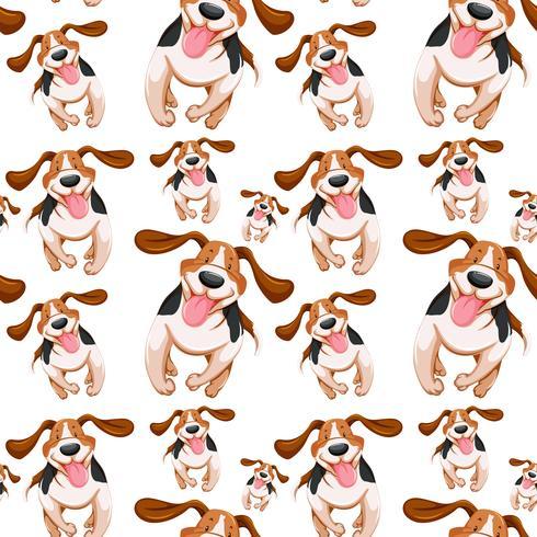Naadloos ontwerp als achtergrond met kleine honden
