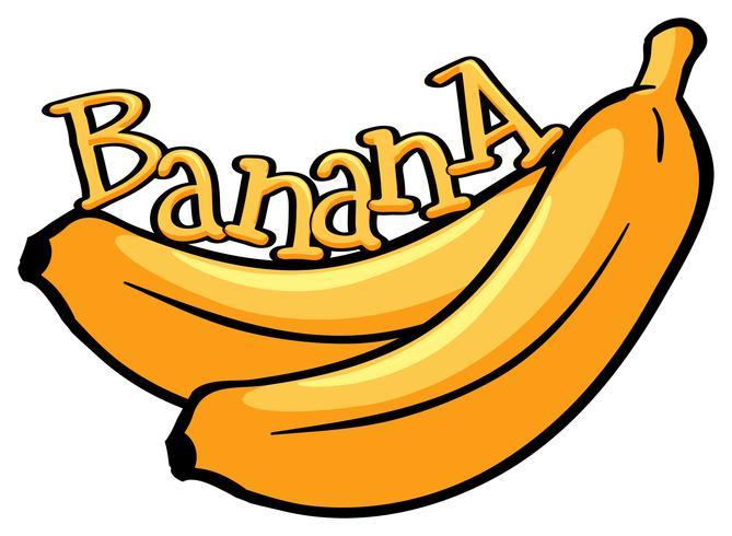 Font design med ordet banan