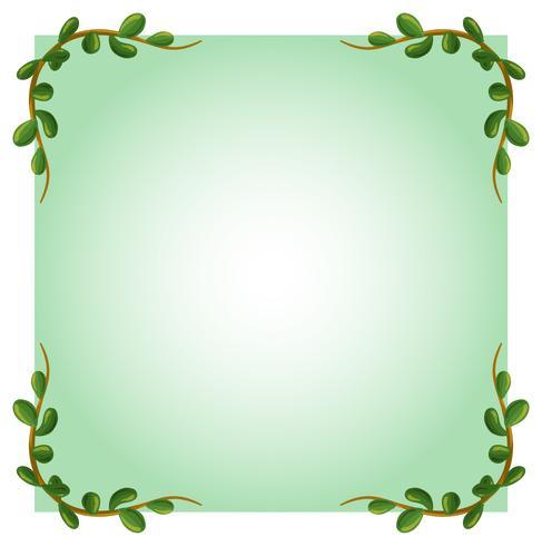 Een lege sjabloon met groene rand