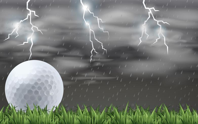 Ein Golf auf dem Feld
