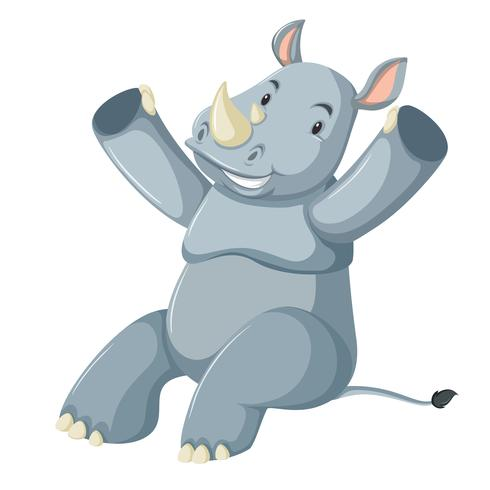 Un simpatico personaggio di rinoceronte