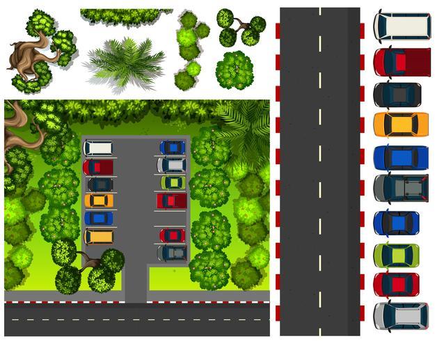 Parkplatz mit vielen Autos