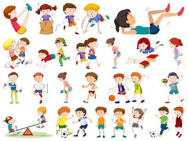 Conjunto de personas que hacen deporte.
