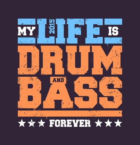 Drum & Bass Typografi