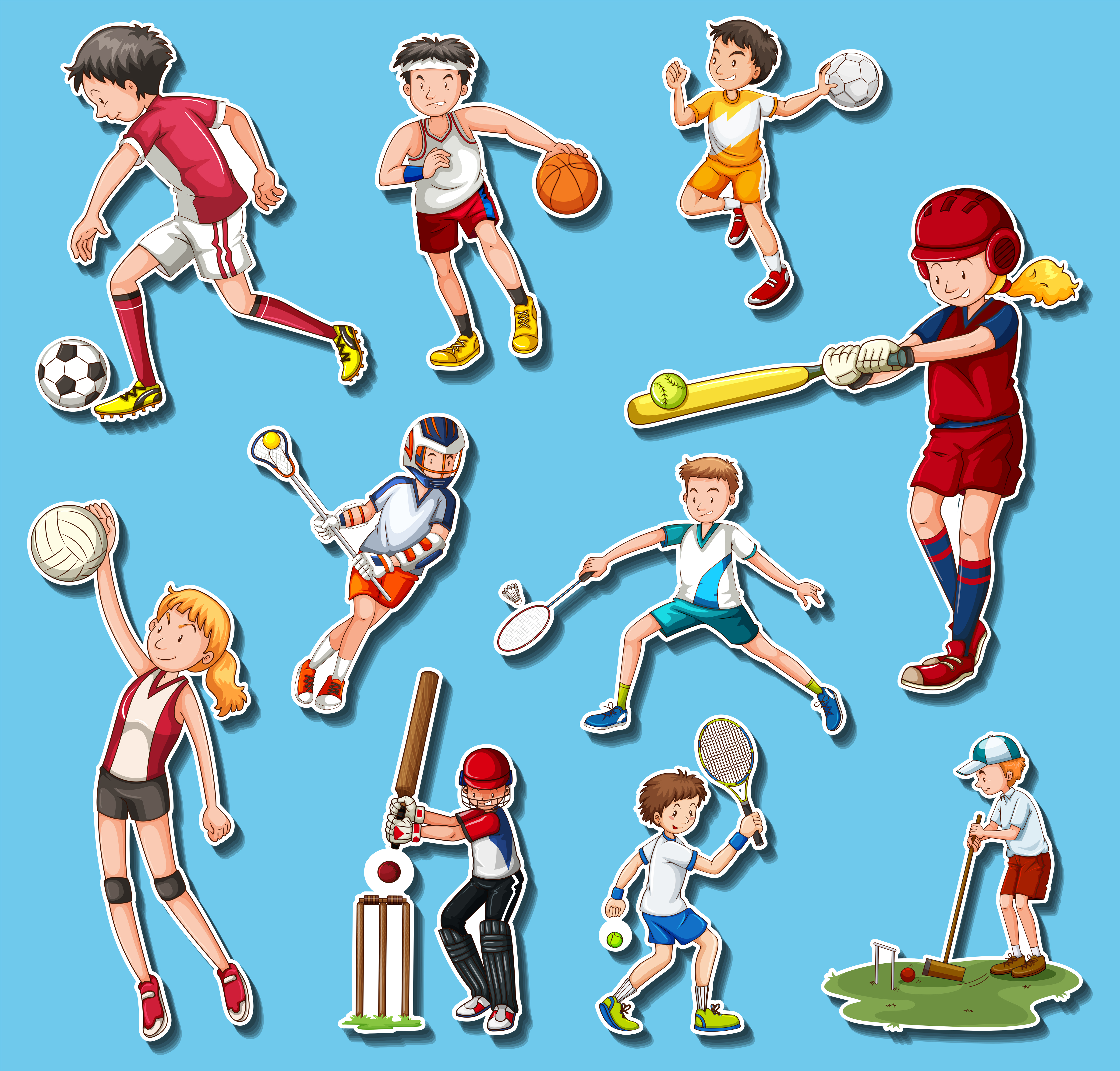sports different types doing vector premium sport vectors related clipart playing graphic resources exclusive users