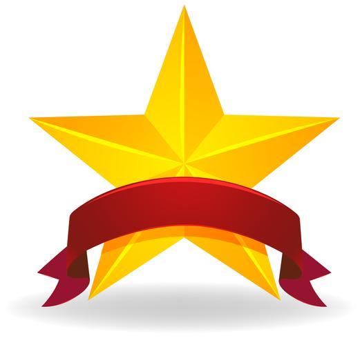 Fahnendesign mit goldenem Stern