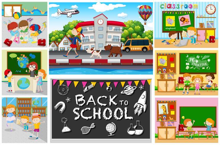 Zurück zu Schulthema mit Kindern in Klassenzimmern