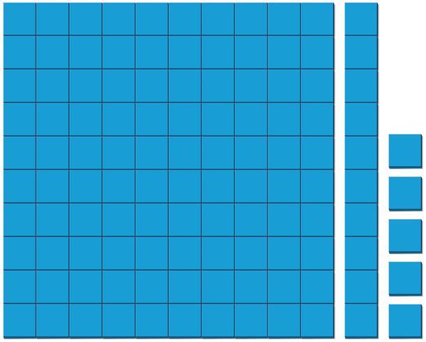 Muster der blauen Quadrate auf weißem Hintergrund