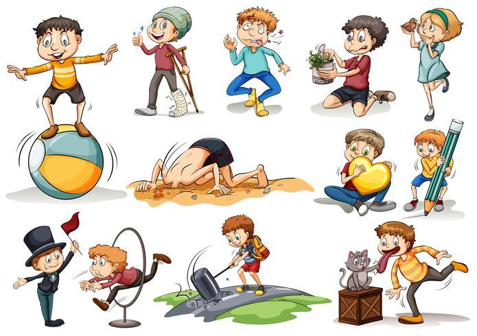 People doing different activities