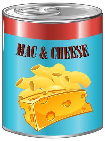 Macarrones con queso en aluminio.