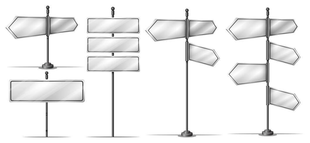 Verschillend ontwerp van straatborden