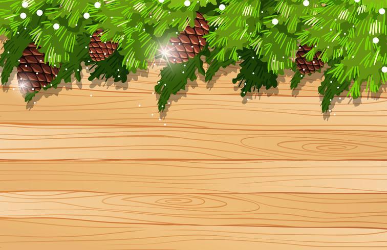 Bakgrundsmall med pinecone och tallblad