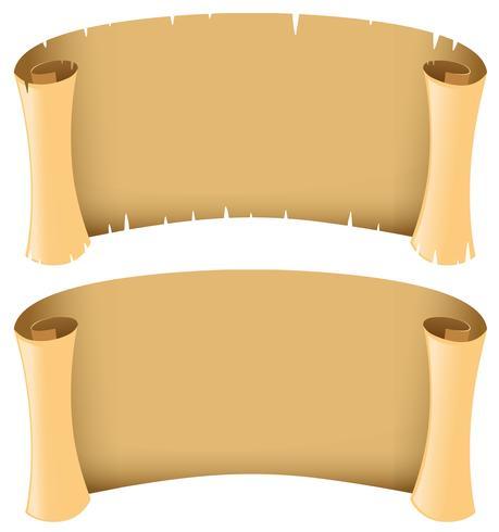 Twee lege banners in middeleeuwse stijl