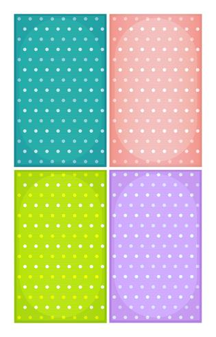 Spotted backgrounds in various colours