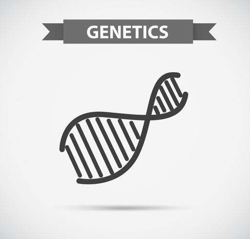 Pictogram ontwerp met genetica symbool
