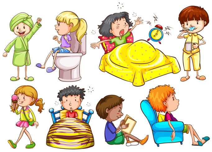 Kinderen doen verschillende activiteiten