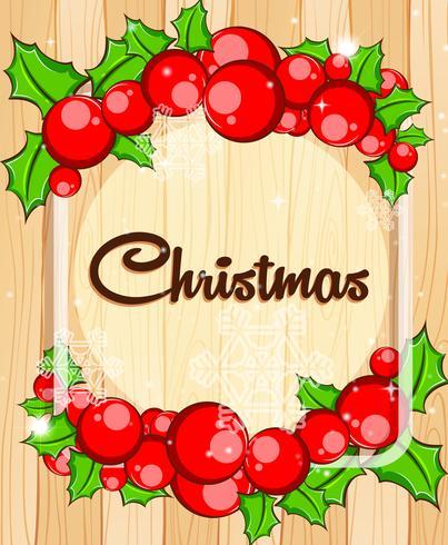Modèle de bordure avec gui de Noël