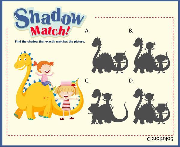 Passende Spielvorlage für Schatten mit Kindern und Drachen