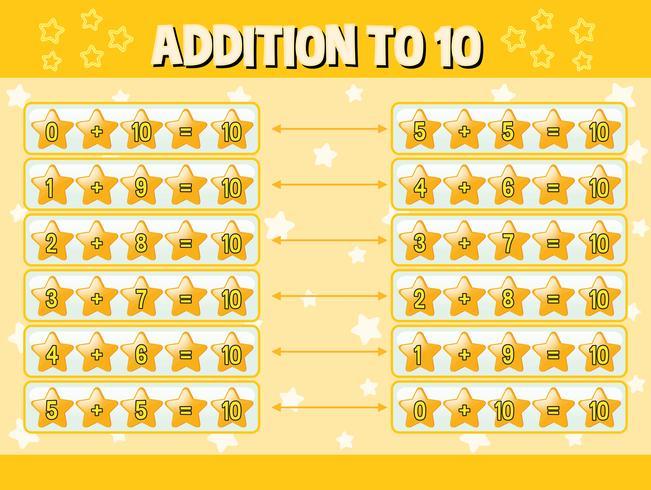 Tillägg till tio med gula stjärnor