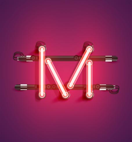 Personnage détaillé néon d'un ensemble, illustration vectorielle