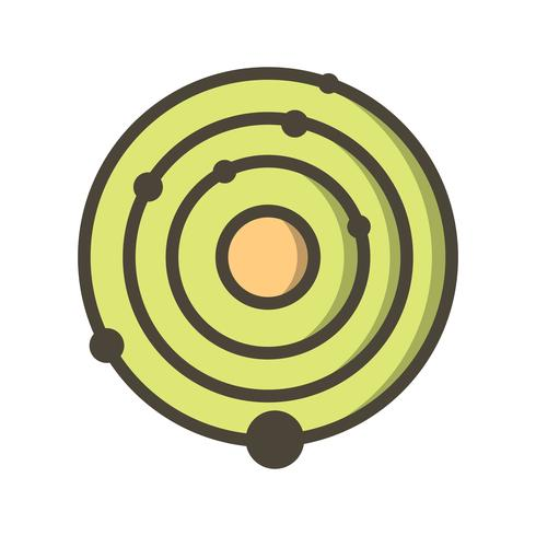 Ícone de vetor do sistema solar