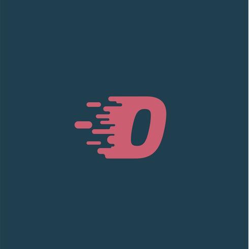 'Rush' personagem de um typeset, ilustração vetorial